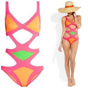 Agent Provocateur Swim - Agent Provocateur Neon Mazzy Swimsuit 2 XS S EUC 72e846d35